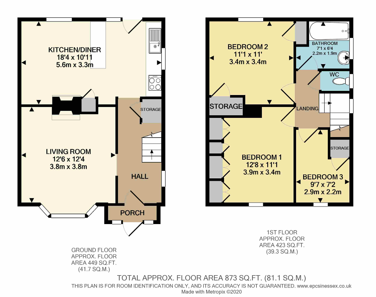Floorplan of Ingleby Road, Dagenham, Essex, RM10 8SA